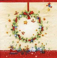 2165 Servilleta decorada Navidad