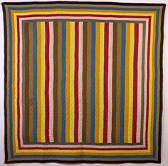 Joseph's Coat Mennonite Quilt: Circa 1880; Pennsylvania