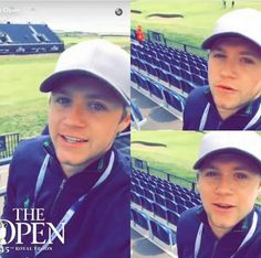Niall on The Open's snapchat