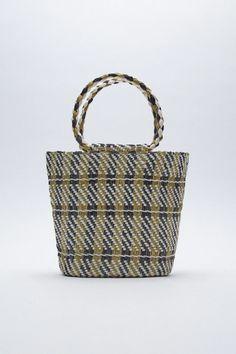 Basket Bag, Zara United States, Wicker Baskets, Louis Vuitton Damier, The Unit, Pattern, Metallic, Bags, Spring