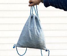 Jeans Drawstring Backpack