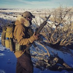 Lot's of slogging, should have put on snowshoes @griffin_armament #igmilitia #magpul  #ak #zhukov @magpul @aimpoint #Windcheater