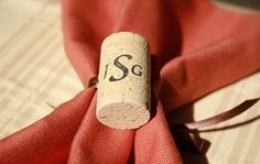 Wine cork napkin holders are a unique way to theme your wedding -- or any party for that matter!