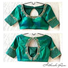 New ideas embroidery blouse designs simple thread Simple Blouse Designs, Stylish Blouse Design, Saree Blouse Neck Designs, Bridal Blouse Designs, Designer Blouse Patterns, Work Blouse, Hand Embroidery, Embroidery Works, Simple Embroidery
