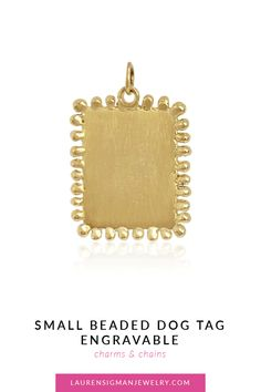 Small Dogs, Dog Tags, Jewelry Collection, Initials, Charmed, Chain, Little Dogs, Chain Drive