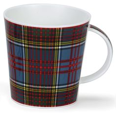 Dunoon Large Bone China Mug Made in UK. Anderson Tartan Design Cairngorm #Dunoon #FrenchCountry