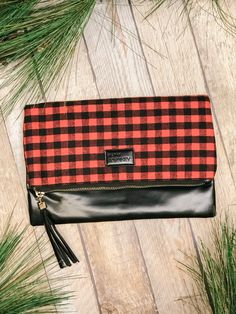 Just in time for the holidays. Shop our new fave accessories @ Miss Modern Boutique online & in store Red Plaid, Online Boutiques, Winter Collection, Travel Bags, Heaven, Holidays, Purses, Store, Modern