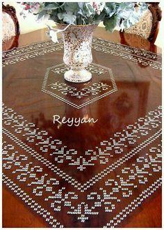Masa örtüsü # tel kırma