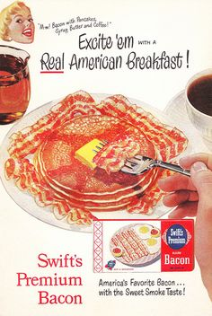 Floating Heads Love Bacon, Syrup, Pancakes, Butter and Coffee! by saltycotton, via Flickr
