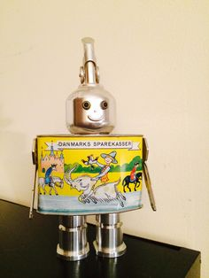 A personal favorite from my Etsy shop https://www.etsy.com/listing/482628277/robot-robot-sculpture-metal-sculpture