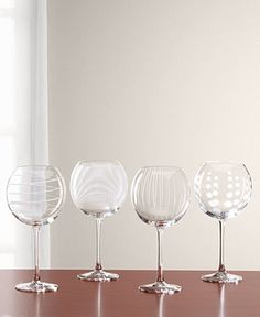 """Mikasa """"Clear Cheers"""" Balloon Goblets, Set Of 4 - Glassware - Dining & Entertaining - Macy's"""