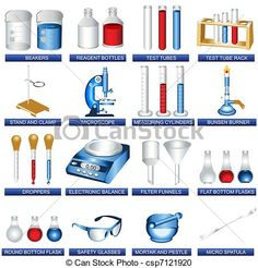 pick 10 items for lab nots | Vector - Laboratory tools - stock illustration, royalty free ...
