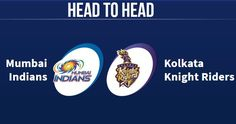 MI and KKR have played altogether 21 matches against each other. Head to Head Records for MI vs KKR or KKR vs MI. Mumbai Indians vs Kolkata Knight Riders Head to Head, Kolkata Knight Riders vs Mumbai Indians Head to Head.
