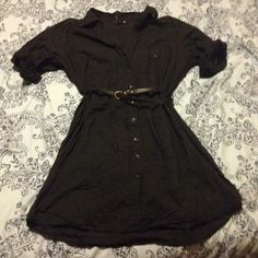 H&M Plus Size Shirt Dress Button Down 2X Fits 1x to 2x ladies. -Belt NOT included. H&M Dresses