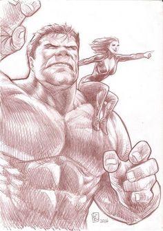 #Hulk #Fan #Art. (Hulk and Black Widow) By:Huy-Truong. (THE * 5 * STÅR * ÅWARD * OF: * AW YEAH, IT'S MAJOR ÅWESOMENESS!!!™)[THANK Ü 4 PINNING!!!<·><]<©>ÅÅÅ+(OB4E)