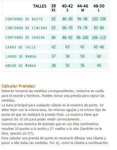 Tablas de talles y medidas - aprende a tejer fácilmente Blouse Patterns, Clothing Patterns, Pattern Drafting, Periodic Table, Lily, Bollywood, Sewing, Knitting, How To Make