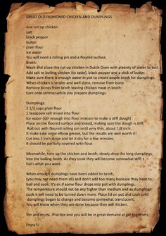 Captured with Lightshot is part of Chicken recipes - Retro Recipes, Old Recipes, Vintage Recipes, Cookbook Recipes, Cooking Recipes, Amish Recipes, Oven Cooking, Homemade Chicken And Dumplings, Chicken Dumplings