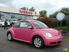 Custom Pink Volkswagen New Beetle  Dream Car  Pinterest