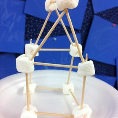 During the construction unit my Pre-k class built houses using marshmallows and tooth picks. Great 3-D activity!