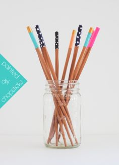 DIY Painted Chopsticks    Jade and Fern