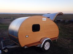 Wooden Teardrop Trailers and Surfboards Built in France