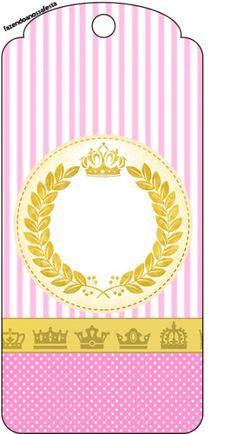 Tag Agradecimento Coroa de Princesa: