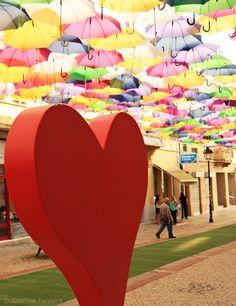 Love Agitágueda #umbrellas #love #festival #águeda #portugal #colorful