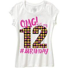Omg its my shirt any age omg its my birthday birthday shirt emoji by WishesandkissesCo 12th Birthday Girls, 10th Birthday Parties, Birthday Ideas, It's My Birthday Shirt, Emoji Craft, Party Shirts, Shirts For Girls, Emoji Stuff, Party Ideas