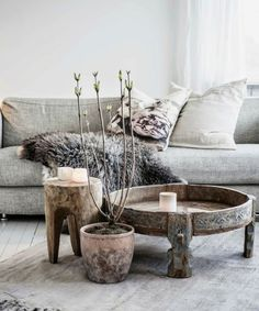 I'm crazy about that grey sheepskin. Where to find it? 20 Glam Ways to Add Texture to Your Home via Brit + Co
