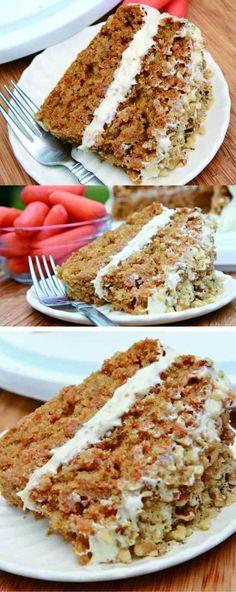 Gluten-Free Carrot Cake (Moist & Fluffy) - cake, carrot, cheese, cinnamon, dessert, gluten free, recipes, tart