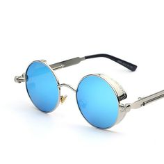 7cf94efff7d Gothic Steampunk Mens Sunglasses Coating Mirrored Sunglasses Round Circle Sun  glasses Retro Vintage Gafas Masculino Sol Tag a friend who would love this!