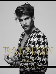 Jon Kortajarena for Balmain Hair Couture FW17 Campaign. Hair by Creative Director, Nabil Harlow