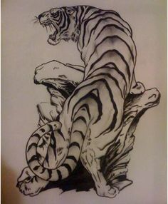 Best Tiger Tattoo Designs – They can claim this in their top 10 but can't list the artist. This is a very classic and beautiful tiger design.