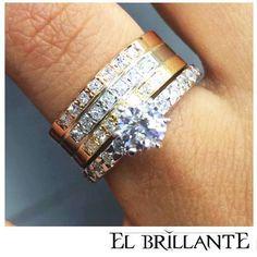 ca7c306bde80 EL BRILLANTE JOYAS ¿Qué opinas de esta hermosa y perfecta combinación  perfecta de tu anillo de compromiso y tu argolla de matrimonio.