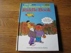 A RARE Vintage 1977  Pop-Up Book- The Sesame Street Riddle Book- Random House /Children's Television Workshop by ScrapPantry, $19.99 USD