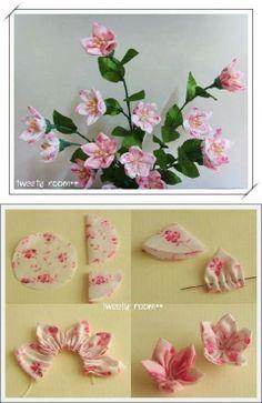 DIY: Fabric Flowers #crafts #diy #flowers
