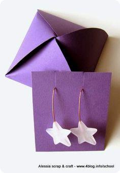 Scatolina fai da te per bijoux e piccoli oggetti - handmade #gift #box