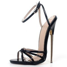 Buy it before it ends. There is always many products on sae upto - Fetish High Heels Sandals Women Fashion Ankle Strap Pointed Toe Shoes Metal Thin Heels Buckle Strap High-Heeled Unisex Shoes - eTrendings Fashion Sandals, Fashion Jewellery, Sexy High Heels, Espadrilles, Ankle Strap Sandals, Shoe Collection, Stiletto Heels, Sneakers, Toe Shoes