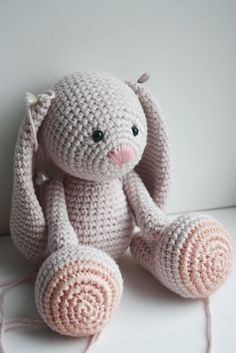 New amigurumi bunny design in process, pattern available in January 2014