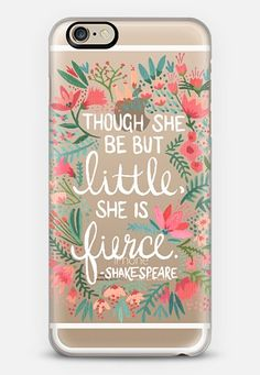 Little & Fierce � Transparent iPhone 6 case by Cat Coquillette | Casetify