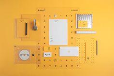 A identidade amarela de Branch Creative