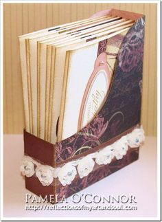 #Cricut Artiste Magazine Holder with 10 cards by Pamela O'Connor - Reflections of My aRt & sOuL