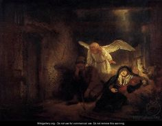 """Rembrandt, """"Joseph's Dream"""" oil on Canvas. 1645"""