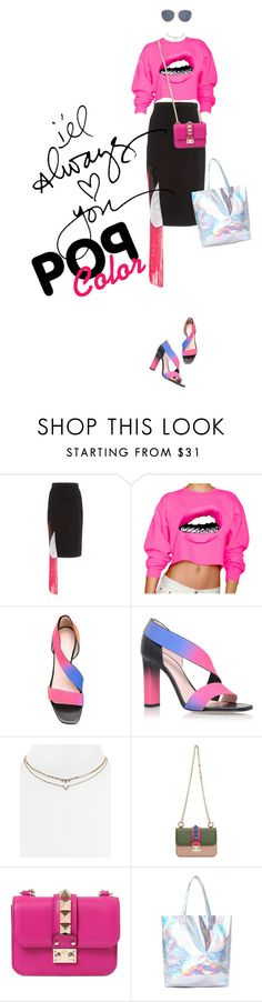 """""""SHOCKIN' PINK"""" by meddyanka on Polyvore featuring Christopher Kane, Aqua, Valentino, Christian Dior and popofcolor"""