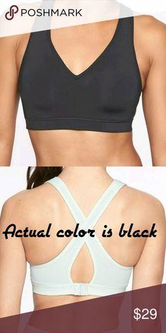 d5a38cc97e3b4 Athleta Sheer Wrap Sports Bra Black Size M NWT Athleta Sheer Wrap Sports Bra