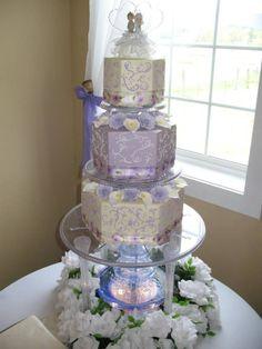 VICTORIAN WEDDING THEMES   Victorian garden theme   Wedding Cakes - White / Lavender or Purple
