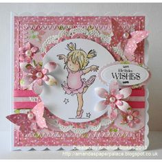 Well we managed to enjoy the sun this morning at the park with the boys before it started to rain this afternoon yet agai. Tattered Lace Cards, Handmade Card Making, Whimsy Stamps, 3d Cards, Flower Doodles, Card Sketches, Copics, Birthday Balloons, Scrapbook Cards