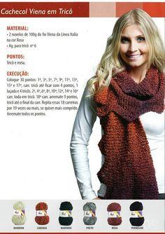Tita Carré - Agulha e Tricot : Cachecol em tricot - vários