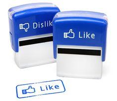 いいねスタンプ。すてきなアイディアにぺたんと押したい。 Like/Dislike Stamp Set