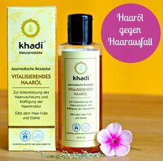 Haare schneller wachsen lassen: Khadi Haaröl stoppt Haarausfall